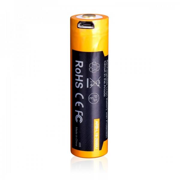 Fenix ARB-L18-2600U 18650 Li-Ion Akku ladbar über Micro-USB